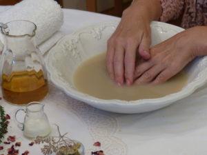 Kräuterbad Hände